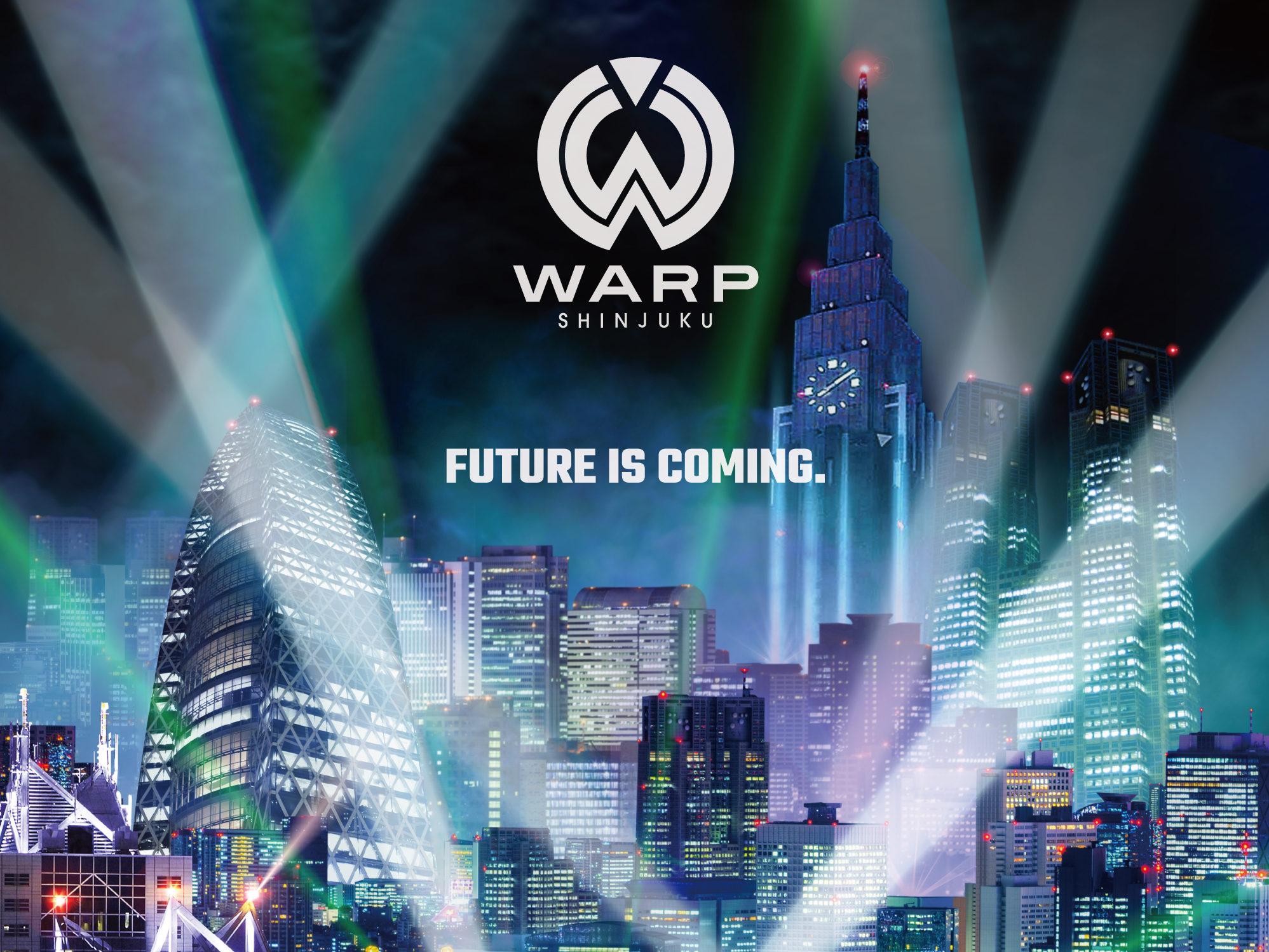 2018年秋、新宿歌舞伎町にオープンするWARP SHINJUKUで「Revealed Night」が開催決定!