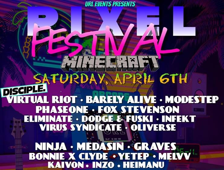 マインクラフトの世界で音楽フェスが開催!Virtual RiotやWhat So Not、Flosstradamusらも出演!