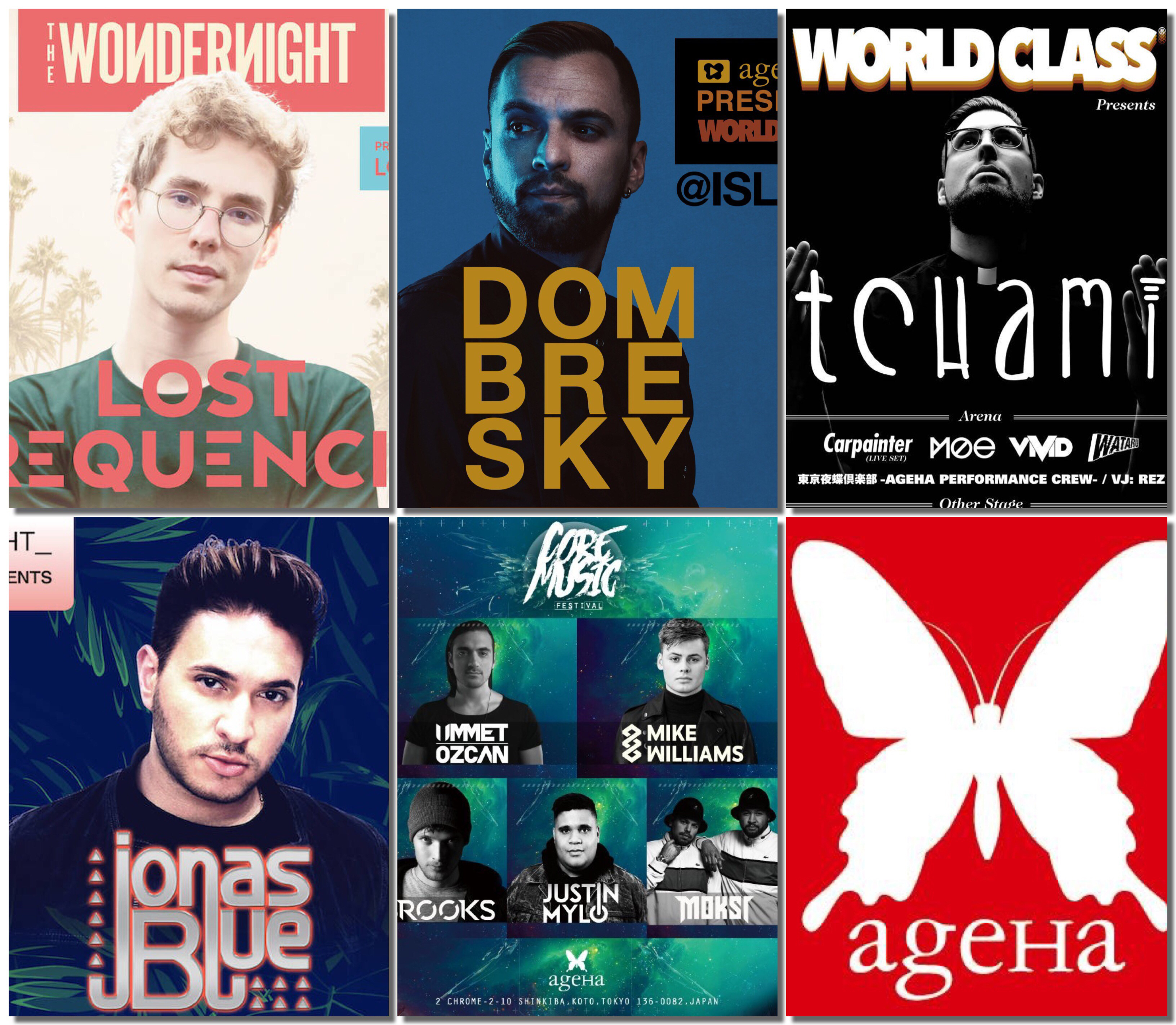 4月のageHaはハウスミュージック尽くめ!Lost FrequenciesにDOMBRESKY、Tchami、Jonas Blueまで出演!