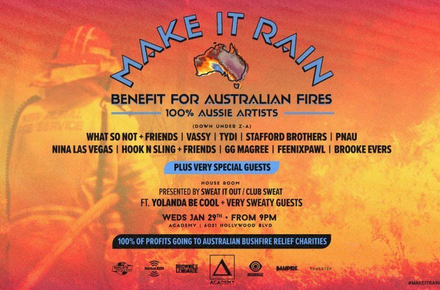 DJたちによるオーストラリアの森林火災の支援金を集めるためのイベントが各地で開催!